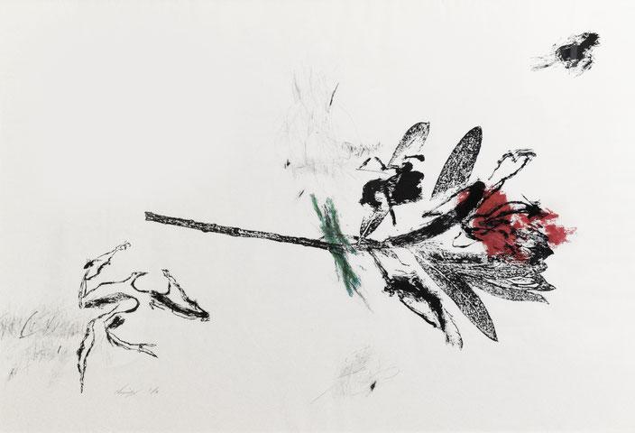 VALSE DES FLEURS 120.5×84cm 水性木版画,鉛筆,パステル edition.3