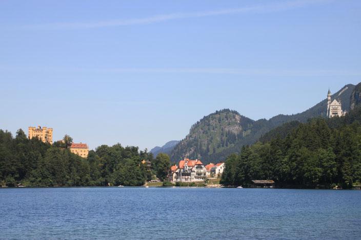 Alpsee mit Schloss Neuschwanstein und Schloss Hohenschwangau