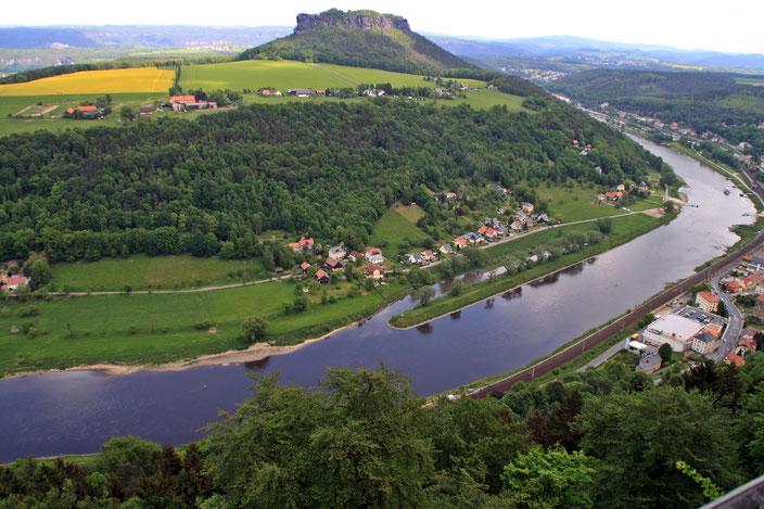 Blick von der Festung Königstein zum Lilienstein