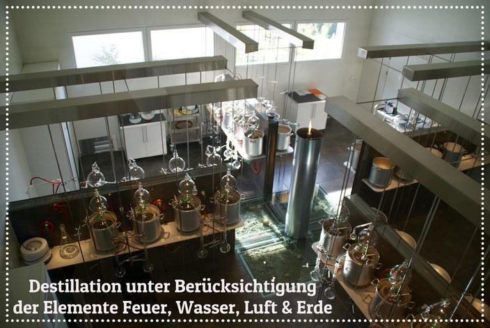 Destillation von Spagyrik