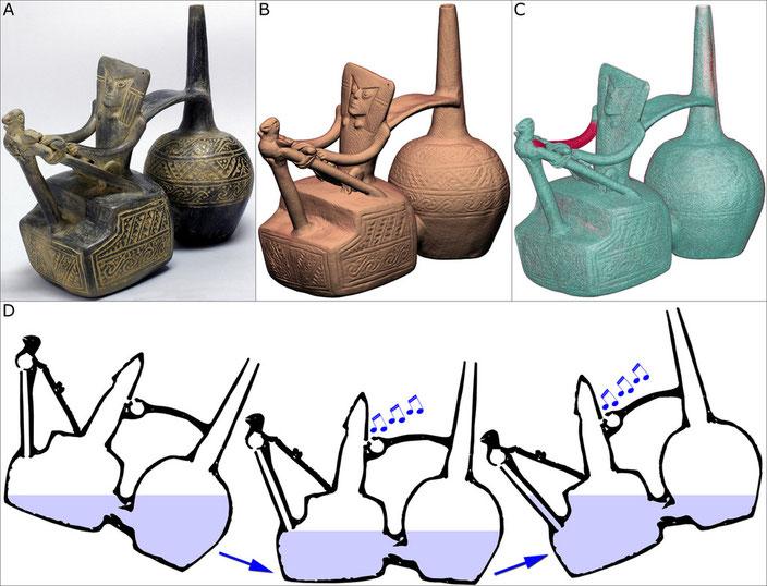Weaver vessel, grey terracotta • Chimú, Peru, 900-1,470 A.D. • Private collection • H. 20.2 cm
