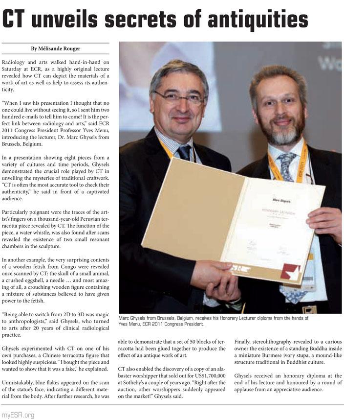 Honorary diploma: ECR 2011 •Vienna, Austria