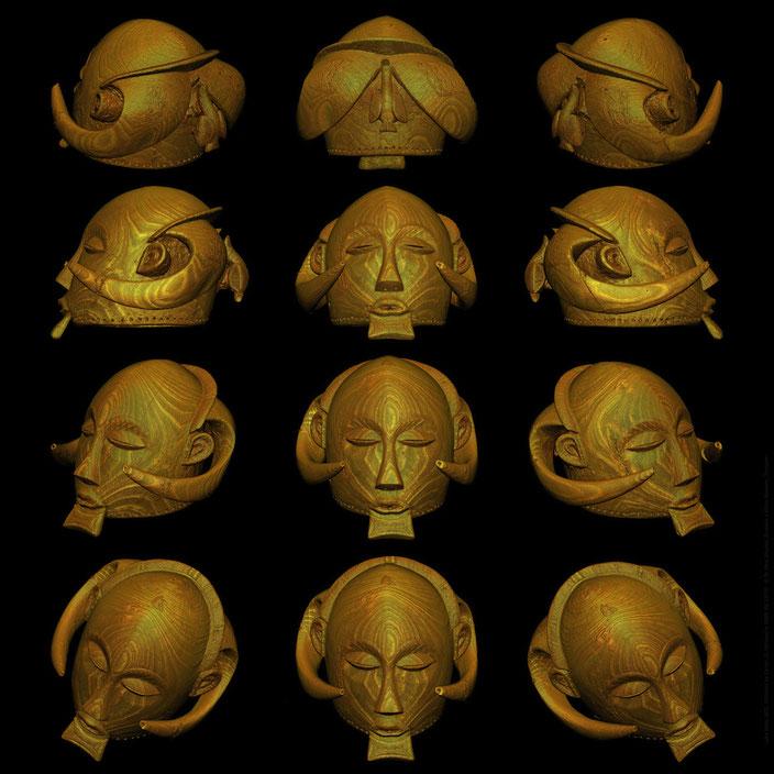 ©Scantix Dr. Marc Ghysels - Wallpaper: Luba mask with horns - RMCA Tervuren