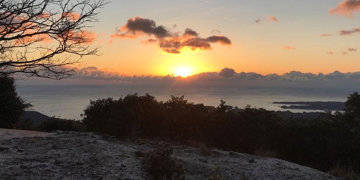 熊野妙法山の初日の出