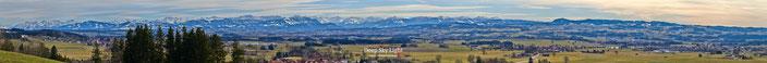 Allgäuer Alpen Panorama, Probstried, Haldenwang, Kempten, Dietmannsried,