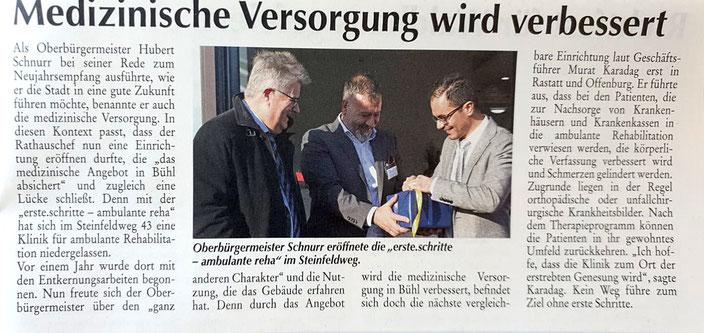 Bühler Stadtnachrichten, Amtliches Mitteilungsblatt der Stadt Bühl im Januar 2020