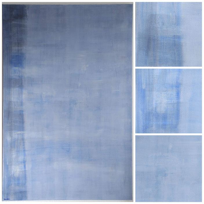 """Oktober Nebel"",  80x120 cm, Acryl auf Leinwand [ rechts Detailaufnahmen ]"