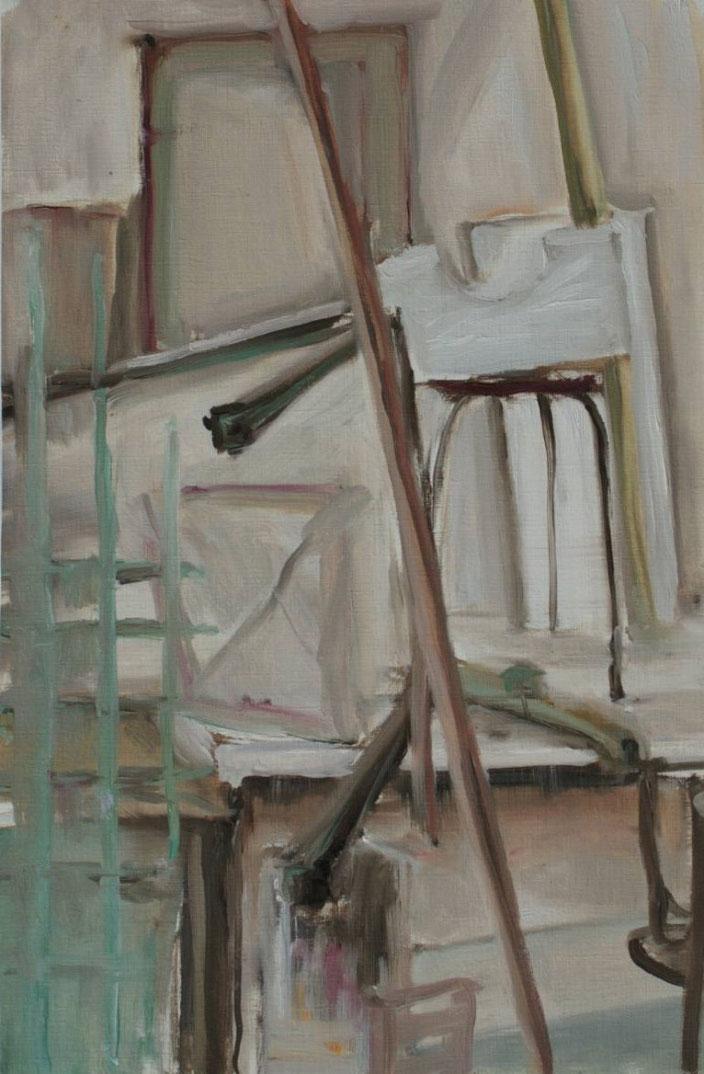 painting olieverf doek canvas work stilleven kruk artiest kunst schilderen schilderij