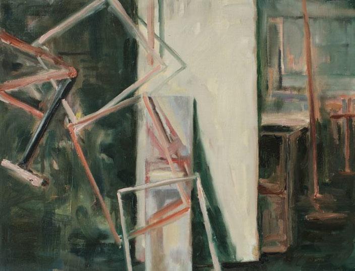oilpainting cm doos dozen olieverf schilderij man handen claireobscure bouwvakker pak mooi groot goed vakmanschap schilderkunst