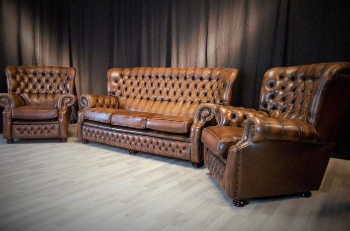 gemeinsam finden wir das passende f r sie neue restaurierte und gebrauchte chesterfield. Black Bedroom Furniture Sets. Home Design Ideas