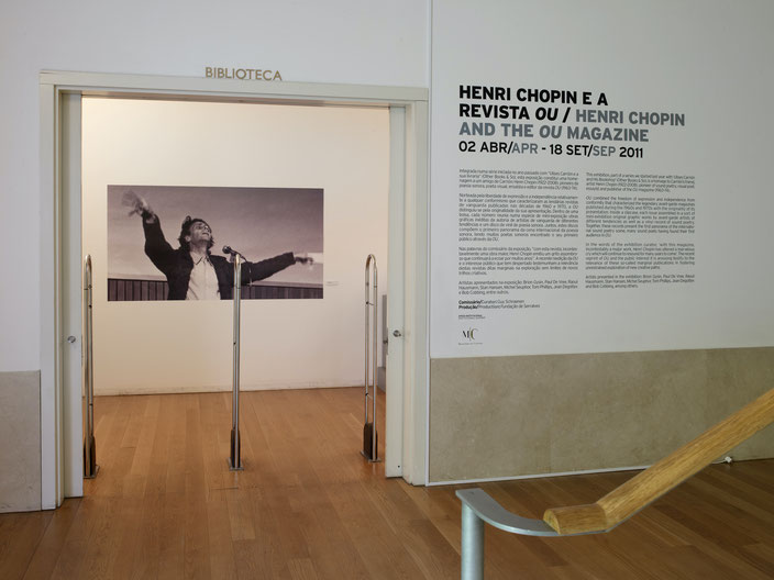 Exhibition on Henri Chopin and the magazine OU, Museum Serralves, Porto, 2011
