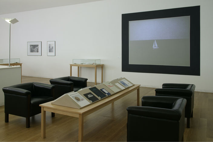 Marcel Broodthaers. Books and Ephemeral Material, curated by G.S. for the Museum Serralves, 7 May - 10 July 2005, exhibition view.