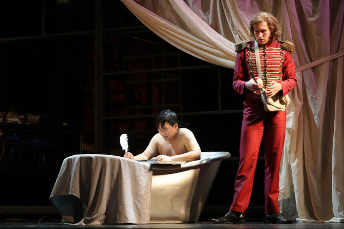 Yoontaek Rhim and Paul Kroeger in Andrea Chénier; Photo: Silke Winkler