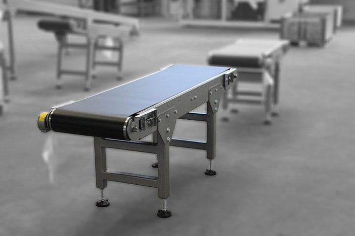 Robust conveyors, for rough environments with capsuled drum motor.