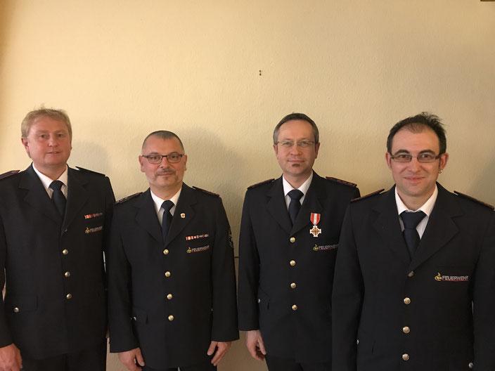 von links Walter Prochnau, Oliver Schandelmaier, Thomas Lehmann und Tobias Schwenninger