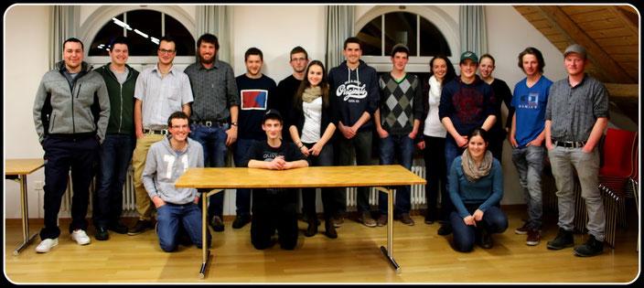 17 der 20 Teilnehmer an der Gründungsversammlung am Plantahof
