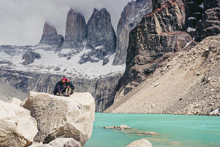 Jana & Ich im Torres del Paine NP