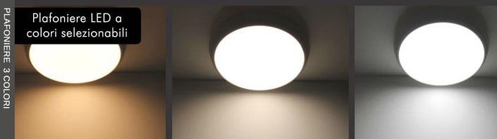 Plafoniere LED con colori selezionabili Nauled