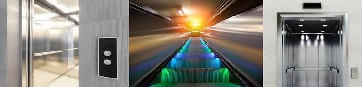 illuminazione led ascensori e scale mobili