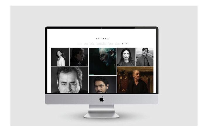 Diseño gráfico web Mesala Films.