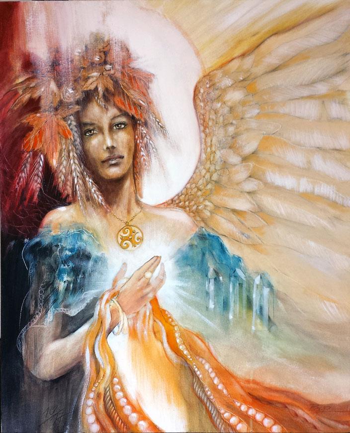 Engelbild, Engel der Dankbarkeit, Ceres / Dana, Römisch-Keltische Erd-Göttin, Herbst, Erntedank #Engel
