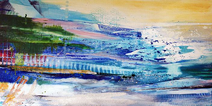 Moments of joy, #Eitempera #Jopie #Bopp #Wasser #abstrakt #Abstraktemalerei