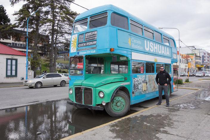 der Sightseeing Bus von Ushuaia