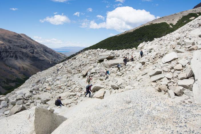 Der Abstieg vom Mirador de las Torres