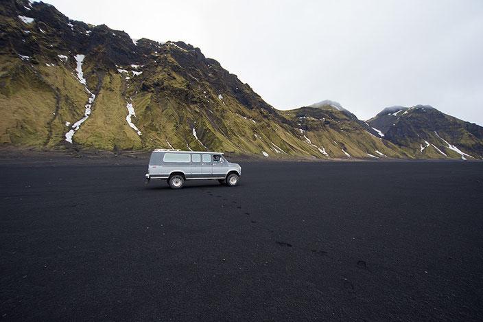 Auf dem Weg zum Katla Gletscher.