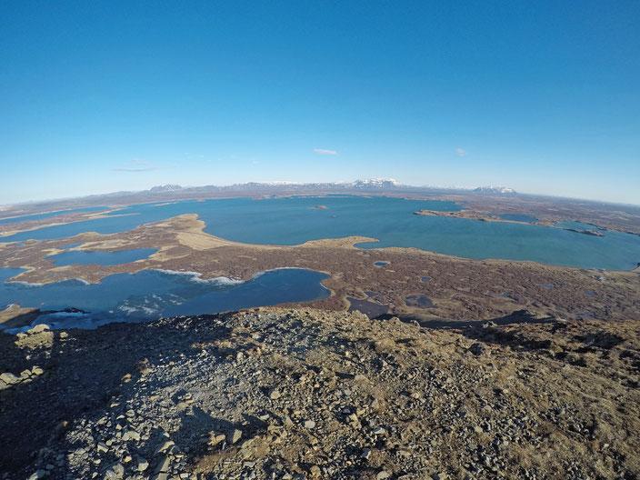 Myvatn - Aussicht vom Vindbelgjarfjall