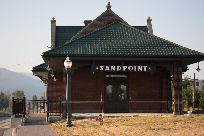 Der Bahnhof von Sandpoint.