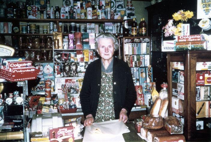Ida Brogli in ihrem Reich ... (Foto: Klara Brogli, ca. 1970)