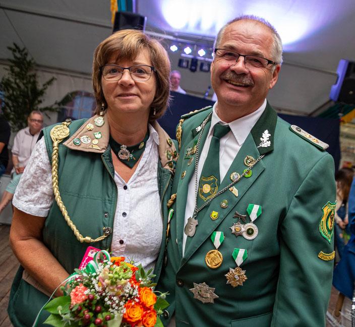 2019 Sportschützenkaiserpaar Willi und Birgit Hustadt
