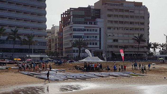 II Copa Canaria de Surfski - Inicio de la jornada