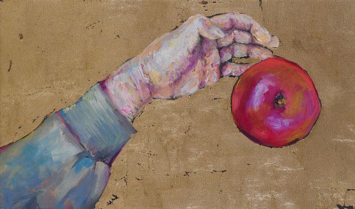 gemälde, malerei, tanja gott, garden, holy, gold, gold painting, grapes, trauben, garten, pflanzen, hand, pflücken, apfel apple,