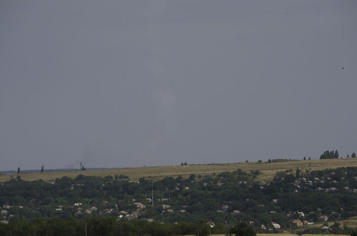 Smoke plume photo was put on Twitter three hours after crash. Unenhanced, original photo.