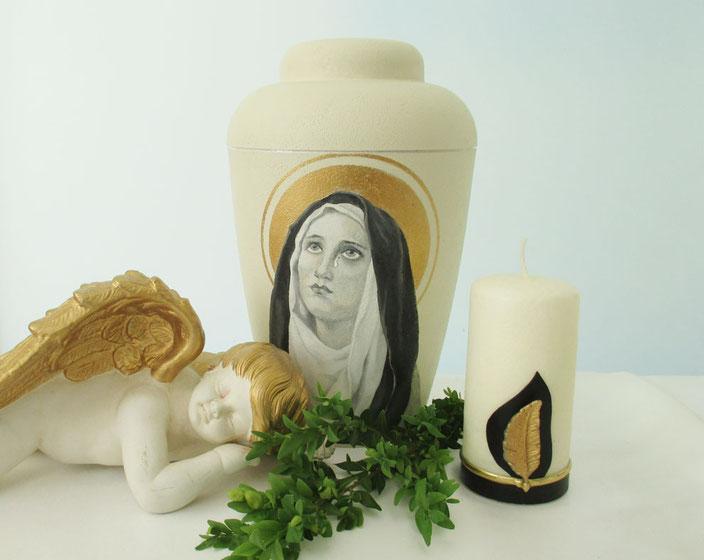 Trauer Urne Madonna