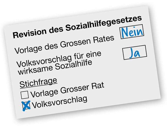Abstimmungszettel - Richtig abstimmen!