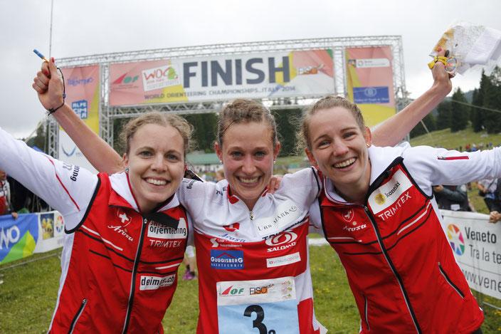 2014 - WM Italien Staffelsieg mit Sara Hertner (Lüscher)  und Sabine Hauswirth