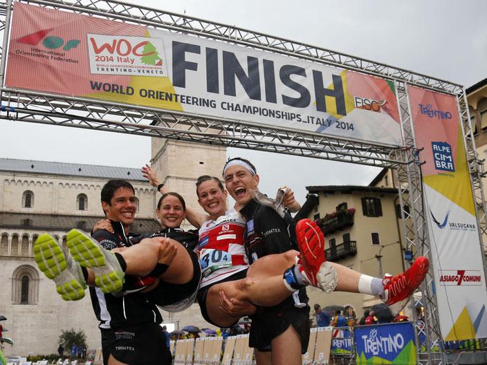... in Trento zusammen mit Martin Hubmann, Rahel Rüdlinger (Friederich) und Matthias Kyburz