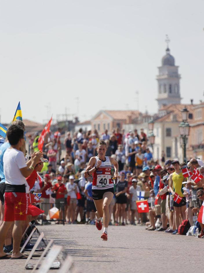 2014 - WM in Italien mit Sprint in Venedig. Es war wunderschön diesen Sprint gewinnen zu dürfen.