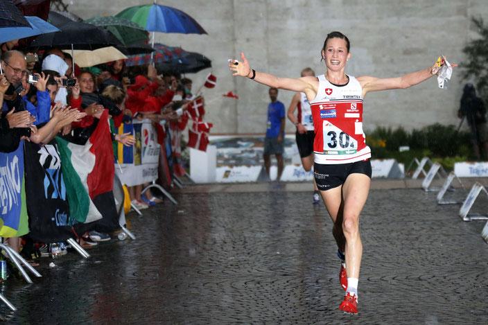 2014 - WM Italien - Emotionen beim Sieg an der ersten Sprintstaffel in der Geschichte der OL-WM
