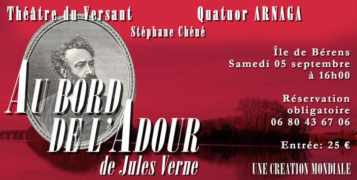 Théâtre - Théâtre du Versant - Biarritz - Au bord de l'Adour - Jules Verne - Adour - représentation - Représentation en plein air