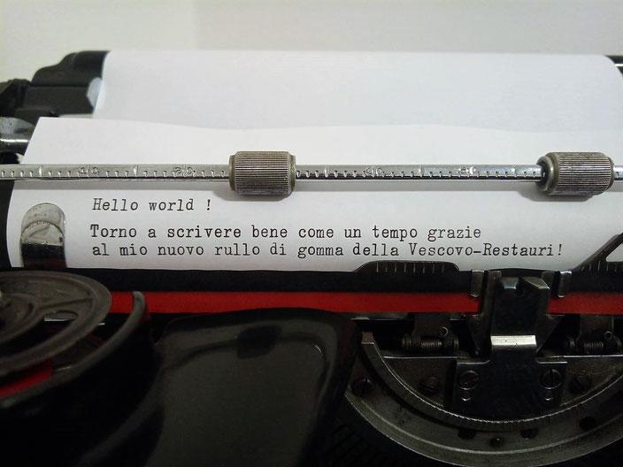 Hello world! I'm writing well like many years ago, thanks to my new Vescovo-Restauri's Platen!