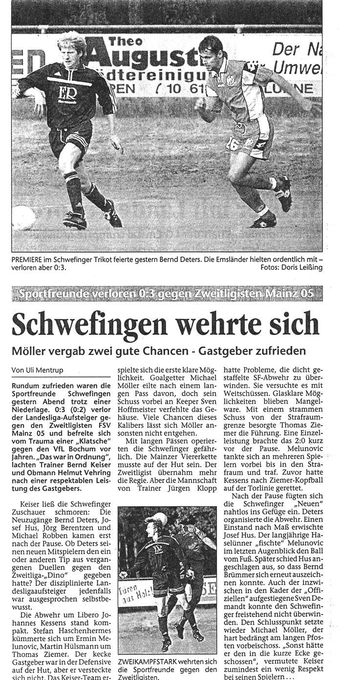Quelle: Meppener Tagespost 07/2001