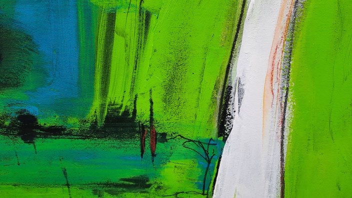 abstrakte grüne Bilder schritte des Lebens