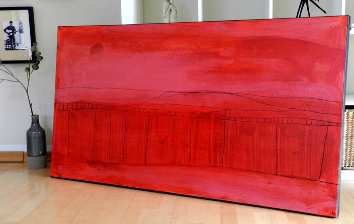 Bild rot gemalt