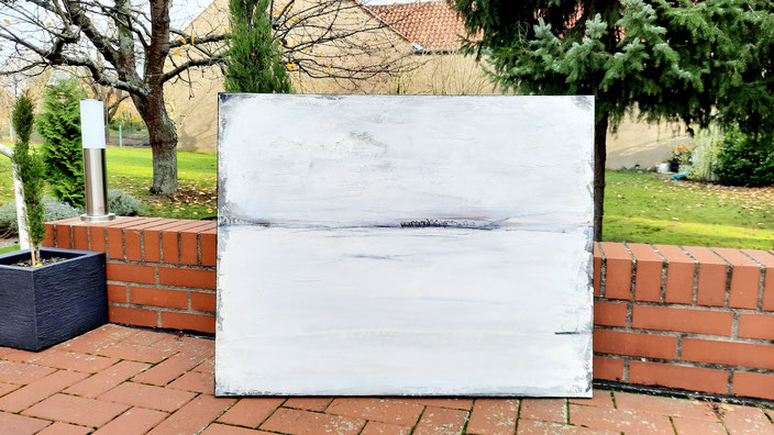 abstraktes weisses Bild