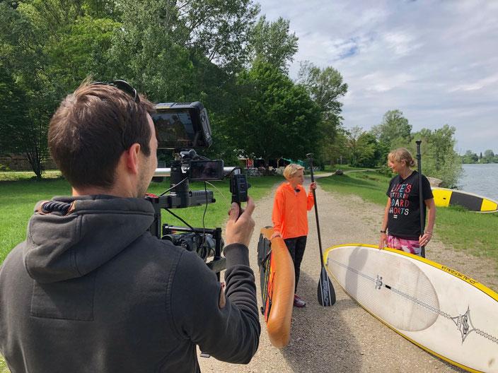 In Kürze www.standuppaddeln.at auf ORF NÖ mit Kristina Sprenger, stand up paddeln in österreich soko kitzbühel, sup in nö