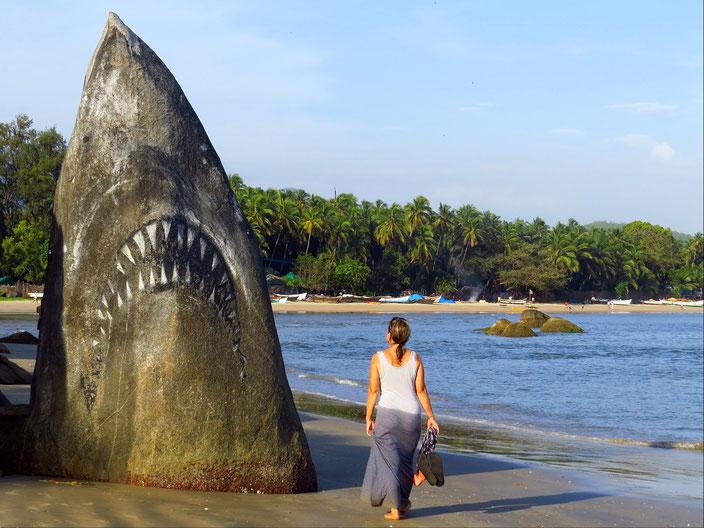 Haifelsen Goa Indien grenzenlosunterwegs